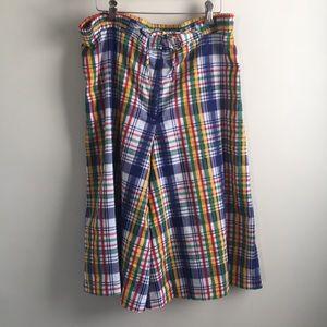 Vintage Madras Culottes Beach Pants